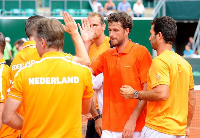 Het Nederlandse Davis Cup-team.