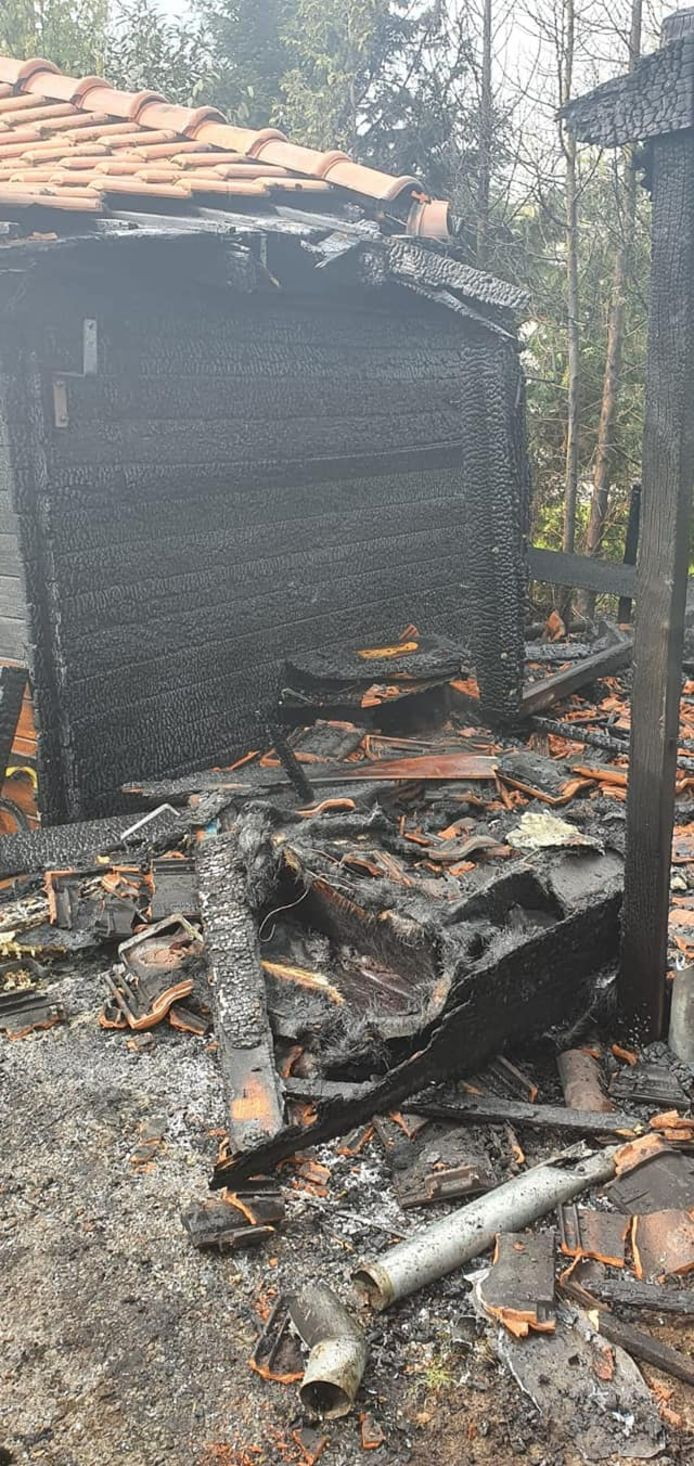 Brandje op camping De Fontein in Eibergen
