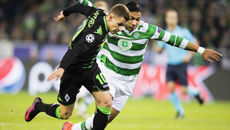 Hazard in actie tegen Celtic