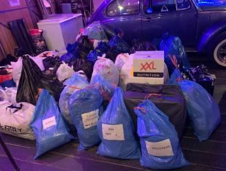 Uitbaters hamburgerrestaurant The Snax vullen garage met ingezamelde spullen voor slachtoffers noodweer