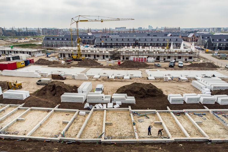 Woningbouw in de nieuwbouwwijk Stadshagen in Zwolle.  Beeld ANP / Hollandse Hoogte / Vincent Jannink