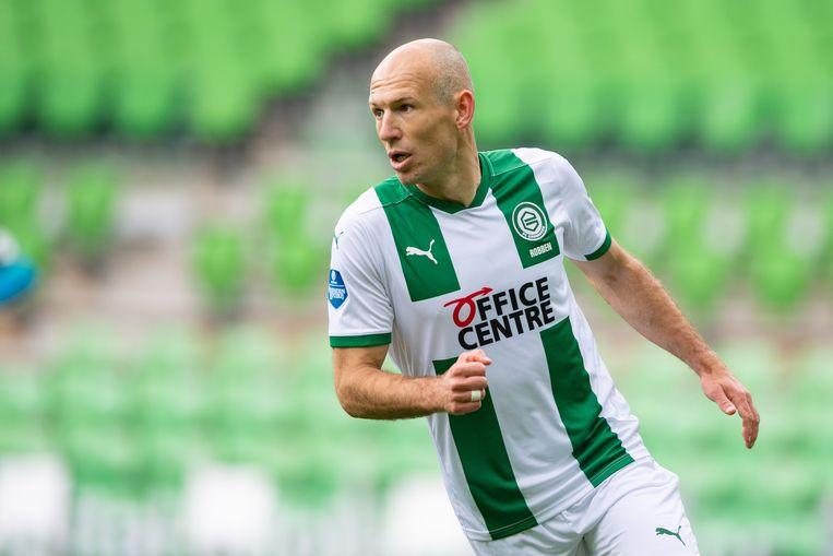 Arjen Robben maakte vorig seizoen een comeback bij FC Groningen, maar kwam door blessureleed weinig in actie. Beeld Pro Shots / Ron Jonker