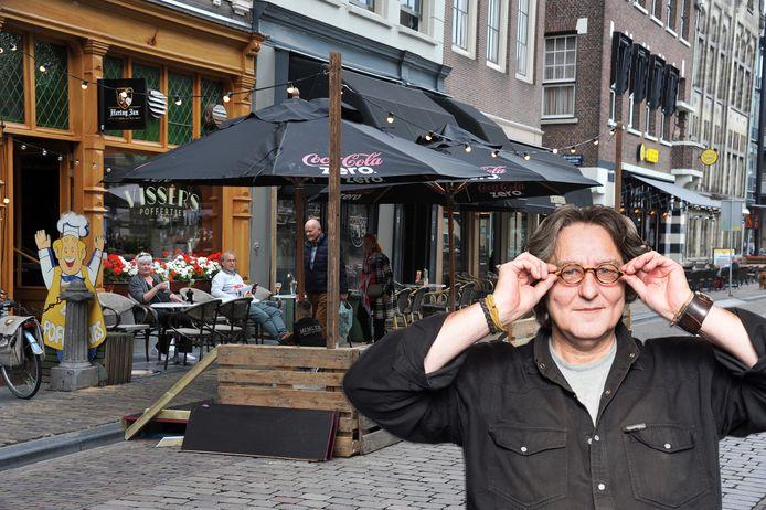 Kees Thies over terrasuitbreidingen in Dordrecht.