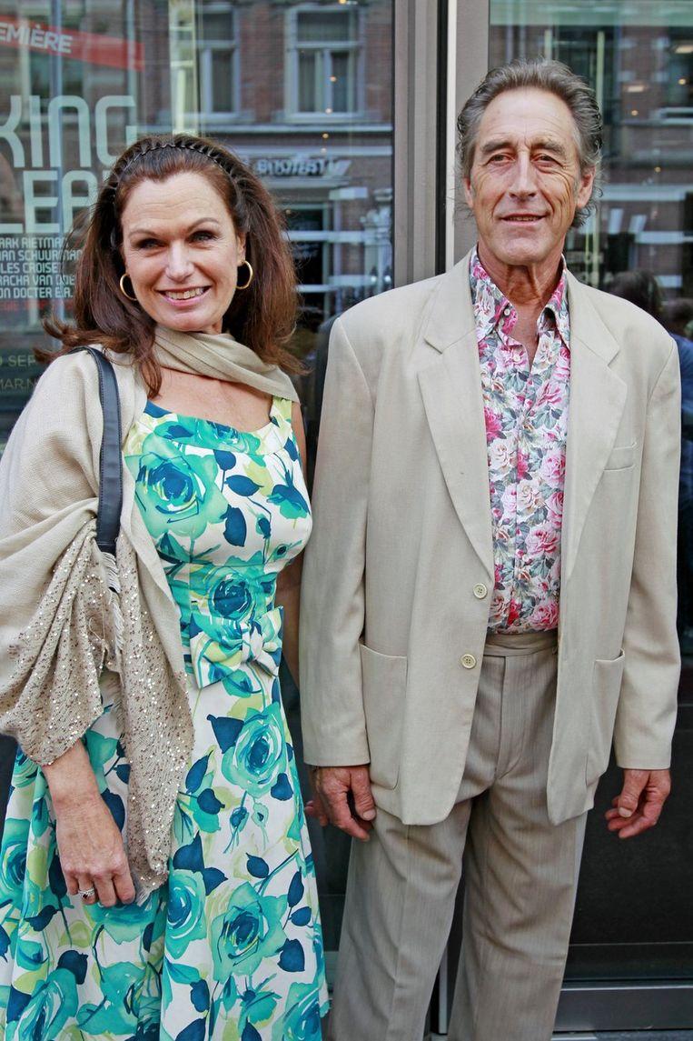 Liz Snoijink (L) met vriend Nicolaas Oldenburg. Beeld anp