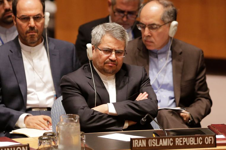 De VN-ambassadeur van Iran, Gholamali Khoshroo.