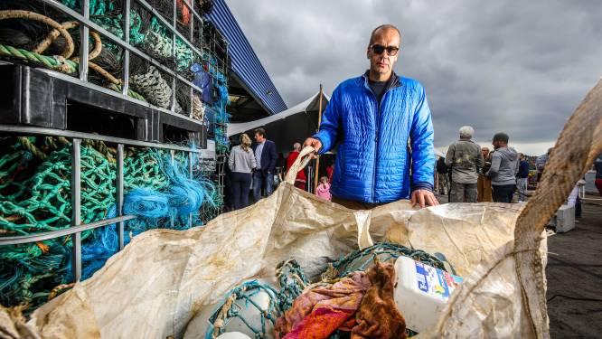 Vissers brengen steeds meer zwerfvuil uit zee aan wal