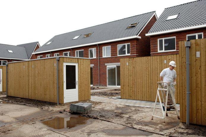 Nieuwbouwwoningen, bijna klaar.