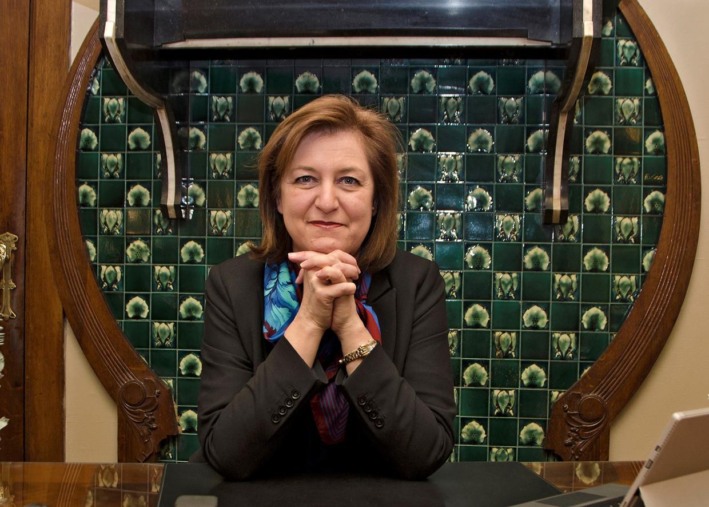 Kati Verstrepen, voorzitter van de Liga voor de Mensenrechten. Beeld rv