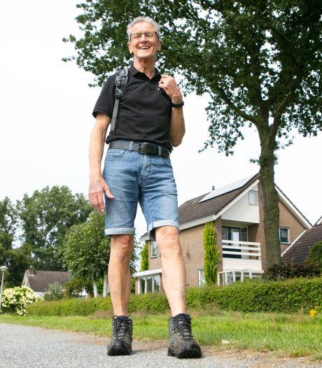 Tinus de Vries uit Dedemsvaart loopt 3500 euro binnen voor Nierstichting