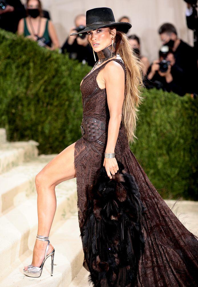 Jennifer Lopez zónder Ben Affleck in een wilde westen-thema van Ralph Lauren.