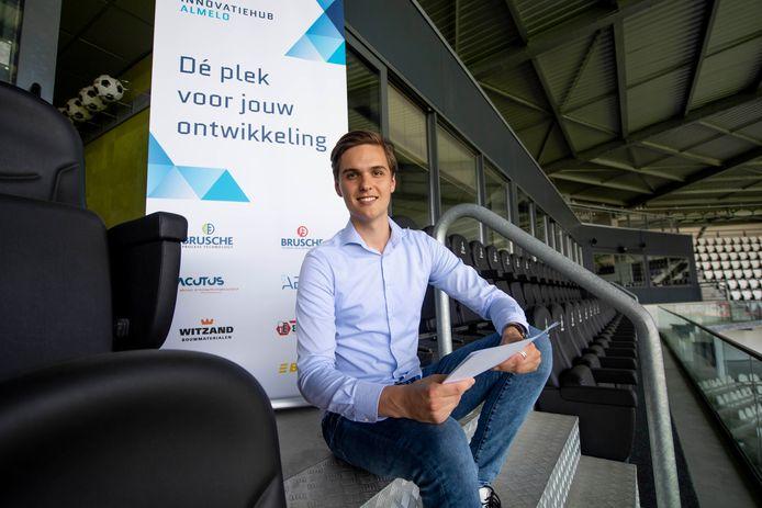 """Daan Schuttenbeld is deze week aan de slag gegaan als manager van de innovatiehub Almelo: """"Jong talent  behouden en ook hier naar toe halen."""""""