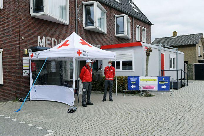 De speciale coronahuisartsenpost in Klaaswaal.