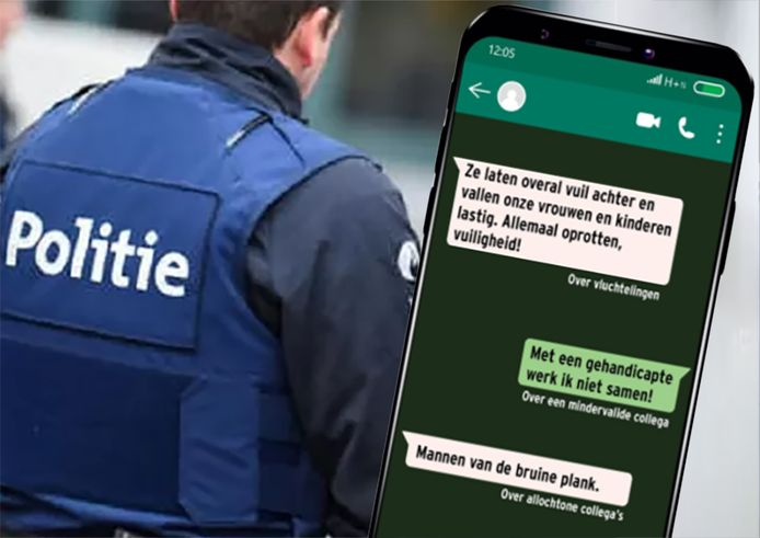 Reconstitution des messages en néerlandais échangés dans le groupe Whatsapp des policiers anversois incriminés