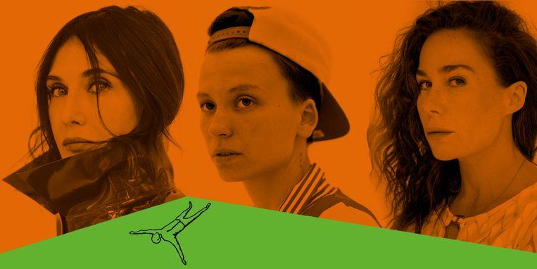 Carice van Houten & Halina Reijn (Man Up) kopen rechten debuut Sofie Lakmaker En gaan 'De geschiedenis van mijn seksualiteit' verfilmen. Beeld Janey van Ierland/Willemieke Kars/Amrita Panday