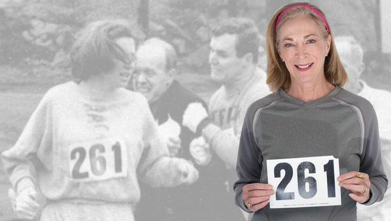 Maandag 17 april loopt Kathrine Switzer (70) weer mee met de marathon van Boston, 50 jaar na haar illegale marathondebuut. Beeld Getty Images
