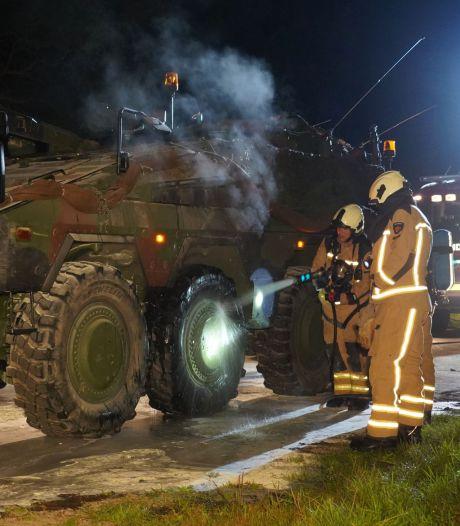 Pantservoertuig van 7,5 miljoen euro vat vlam in de buurt van Havelterberg