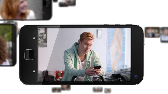 Beeld van de reclame waarin Bradley Braafhart te zien is.
