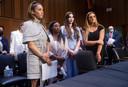 Van links naar rechts: Aly Raisman, Simone Biles, McKayla Maroney en Maggie Nichols.