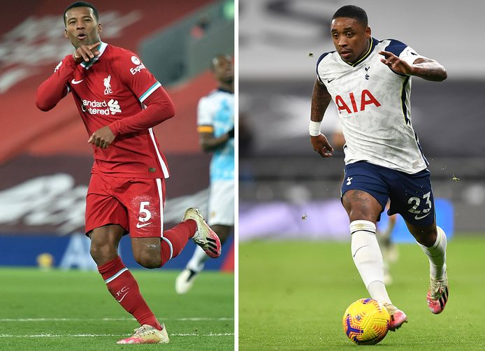 'Gini' Wijnaldum en 'Stevi' Bergwijn staan mogelijk vanavond aan de aftrap op Anfield bij de Engelse kraker Liverpool - Tottenham Hotspur.