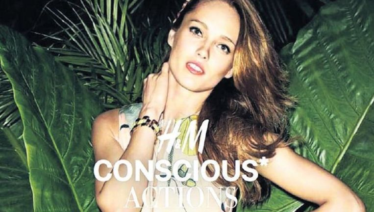 null Beeld Reclameposter voor H&M's duurzame 'conscious-collectie'.