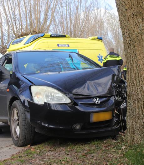 Auto botst op boom in Zwolle, inzittenden gewond