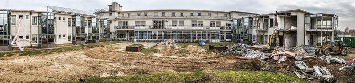 Achteraan het huidige rusthuis Sint-Jozef zijn sloopwerken gestart.