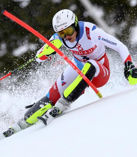 Holdener aan de leiding na eerste run slalom