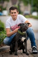 Hond Tommy  met baasje Quincy.