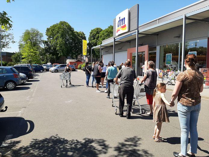 In de rij voor de DM in Kranenburg.