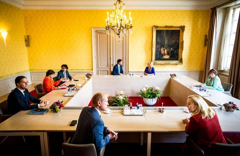 Kabinetsinformateur Mariëtte Hamer ontving vandaag zeven partijleiders. Beeld Freek van den Bergh / de Volkskrant
