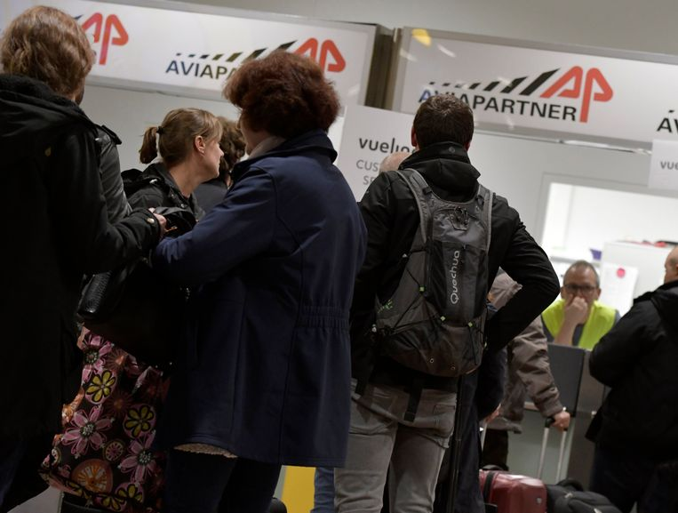 De staking bij Aviapartner in Zaventem sleept al bijna een week aan. Beeld Photo News