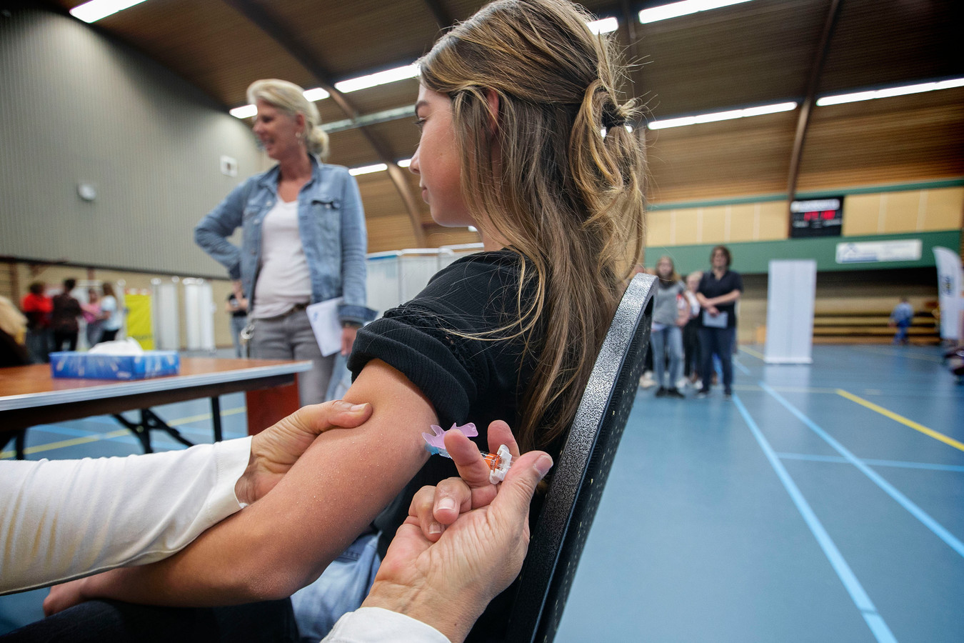 Archieffoto van een vaccinatie tegen baarmoederhalskanker in Asten.