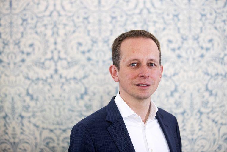 SP-secretaris Arnout Hoekstra. Beeld Jeroen Jumelet / ANP