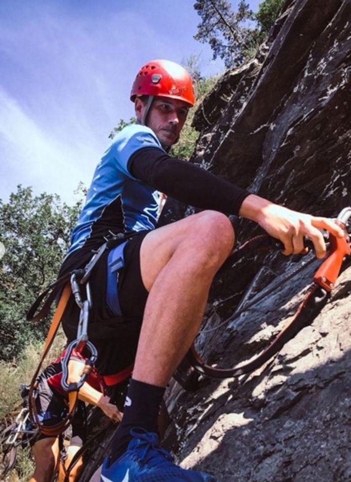 Bossut geeft het ritme aan tijdens het klimmen.
