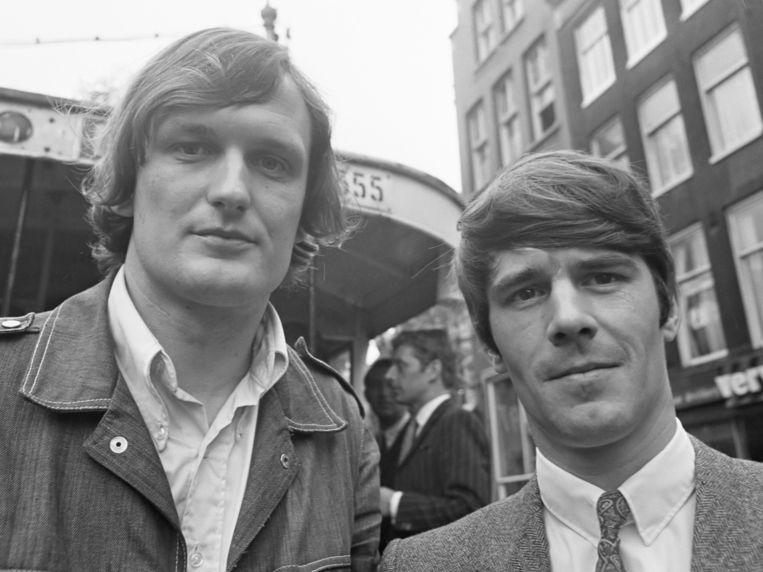 Wim de Bie en Kees van Kooten, 1968 Beeld -
