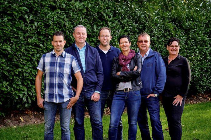 De eerste zes kandidaten voor ABL: Bas van Sinten, Ron Verschuren, Jordy Brouwers,  Monika Slaets, Frans van Zeeland en Ellen Staal.