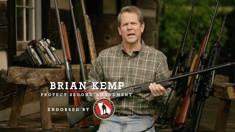 Brian Kemp wil gouverneur van Georgia worden. Hij maakt zonder franjes duidelijk waar hij voor staat. Beeld rv