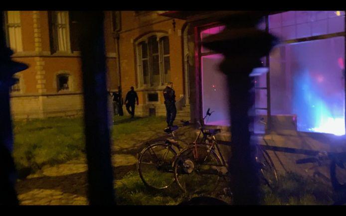 Een lichtinstallatie aan het KASK zette de politie op het verkeerde been.