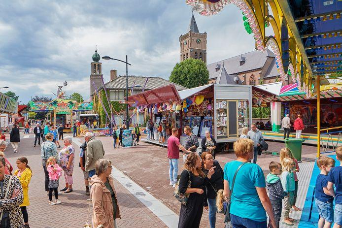 De kermis in Schaijk in 2019.
