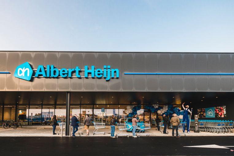 De gloednieuwe vestiging van Albert Heijn in Ninove. Beeld rv