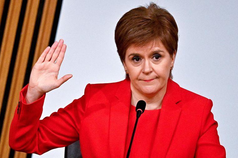 De Schotse premier Nicola Sturgeon. Beeld Photo News