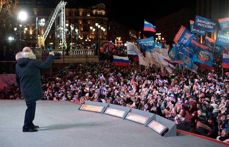 De 65-jarige Poetin blijft tot 2024 president. Beeld AP