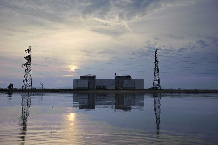 De kerncentrale van Fessenheim, nabij de Duitse grens, gaat als eerste dicht. Beeld AFP