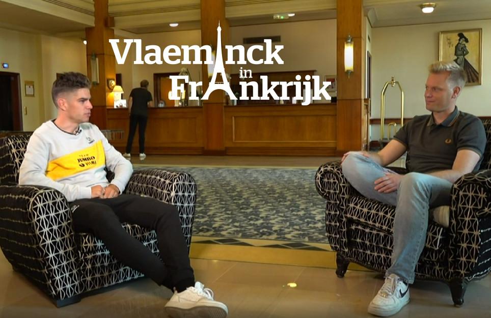 Stijn Vlaeminck interviewde Wout van Aert twee dagen voor de start van de Tour.