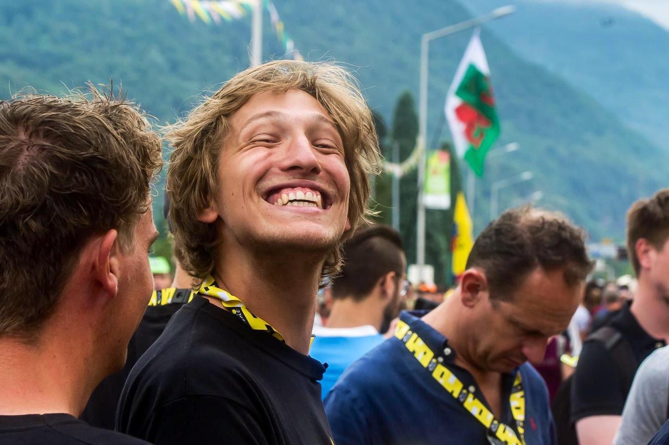 Bas Tietema tijdens de Tour de France vorig jaar.