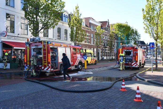 In de Stationsstraat in Middelburg woedde vanmiddag een kleine keukenbrand.