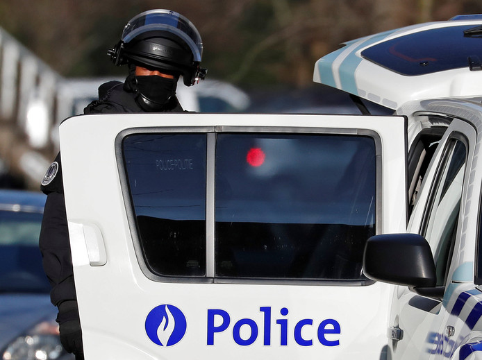 Belgische anti-terreureenheid in Brussel.