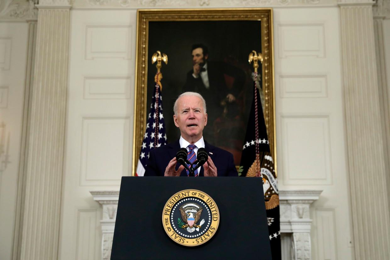 Joe Biden, president van de Verenigde Staten. Beeld Photo News