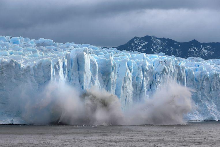 Smeltende ijsvelden in he nationale park  Los Glaciares in de provincie Santa Cruz in Argentinë.  Beeld Getty Images
