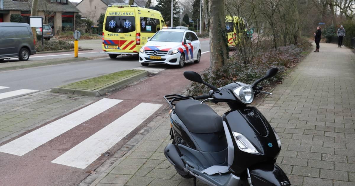 Scooterrijder gewond bij aanrijding in Bennekom.